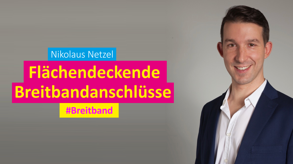 Nikolaus Netzel FDP Hille Breitbandausbau Banner