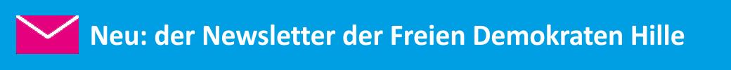 Banner Neu: der Newsletter der Freien Demokraten Hille