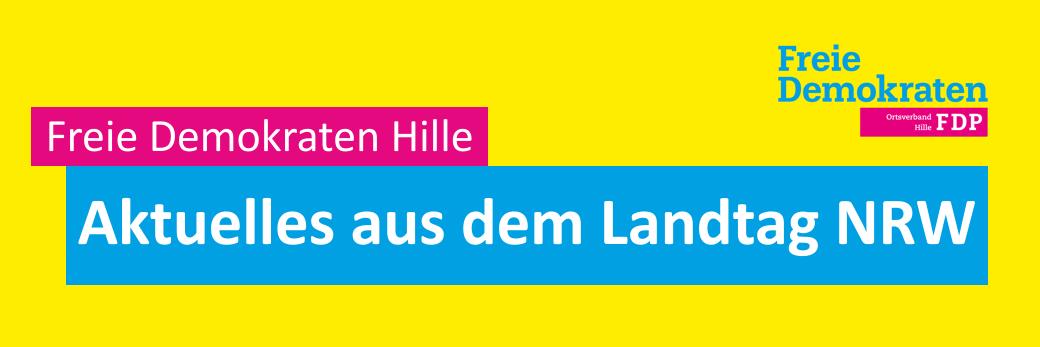 Freie Demokraten Hille - aktuelles aus dem Landtag NRW