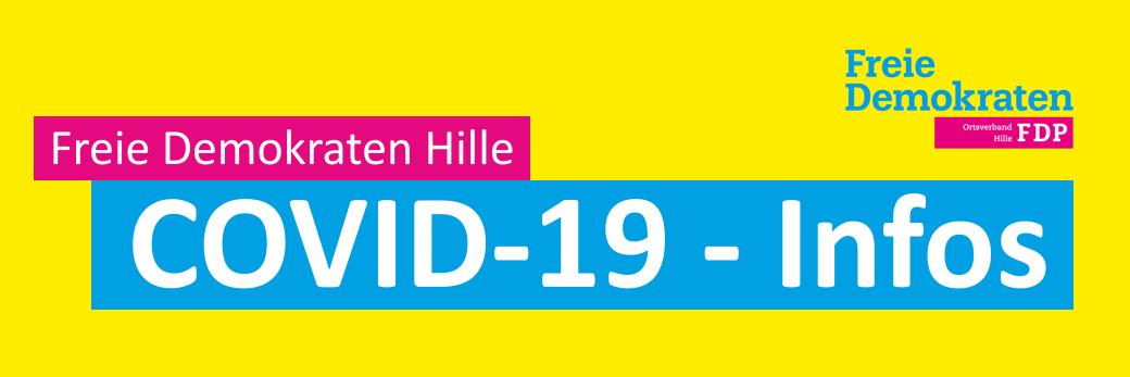 Banner - COVID-19 - Infos von den Freien Demokraten Hille