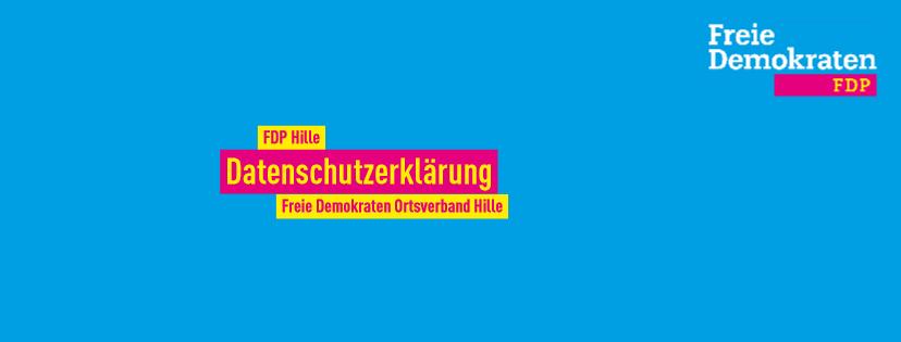 FDP Hille - Datenschutzerklärung - Freie Demokraten Ortsverband Hille