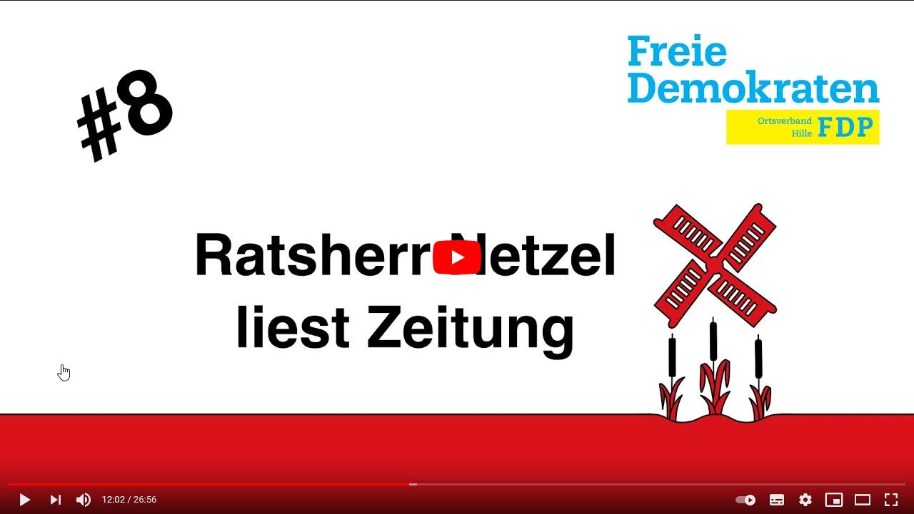 Ratsherr Netzel liest Zeitung Nr. 8 - 16.01.2021